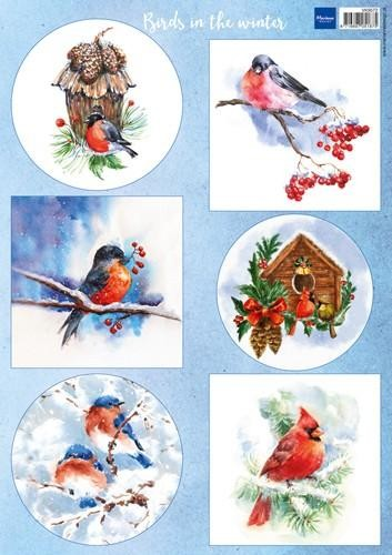 50226 (933) Marianne Design Decoupage Birds in the Snow (VK9572).