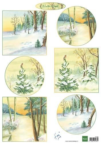 50228 Marianne Design Decoupage Winter Wood (IT606).