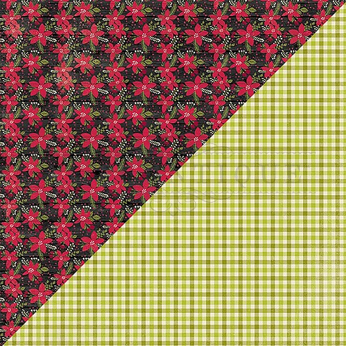 "50317 Authentique Nostalgia Double-Sided Cardstock 12""X12""#6 Poinsettia."