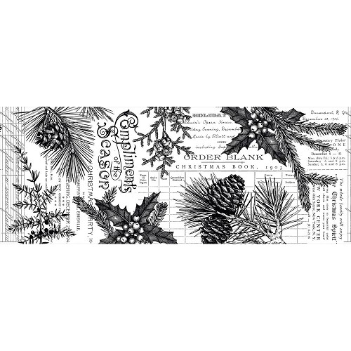 50342 Tim Holtz Idea-Ology Collage Paper 6yds Forest (TH93776).