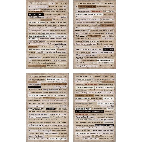 "50343 Tim Holtz Idea-Ology Clippings Stickers 5""X9.5"" 4/Pkg Halloween (TH93719)."