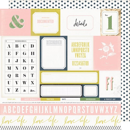 "50376 Heidi Swapp Emerson Lane Double-Sided Cardstock 12""X12"" Easy Peasy."