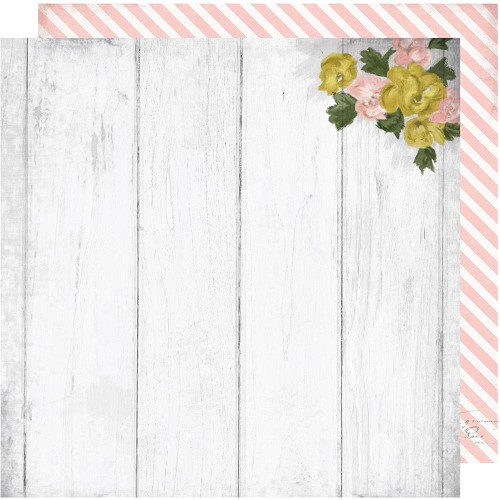 "50379 Heidi Swapp Emerson Lane Double-Sided Cardstock 12""X12"" Restoration."