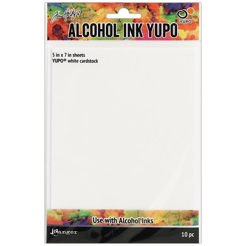 50389 Tim Holtz Alcohol Ink White Yupo Paper 10 Sheets 12,7x17,8 cm (TAC49715).