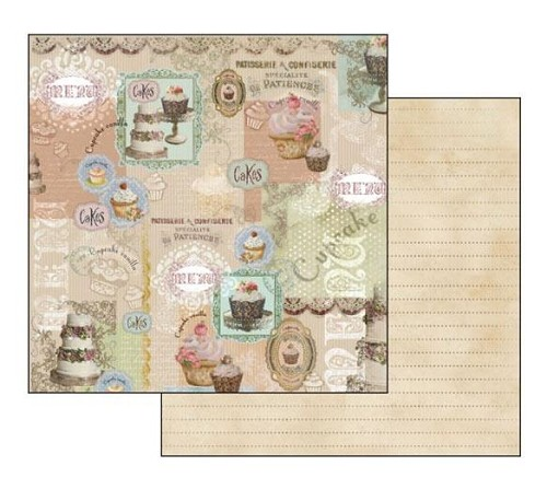 "50444 Stamperia Double-Sided Cardstock 12""X12"" Cake (SBB215)."