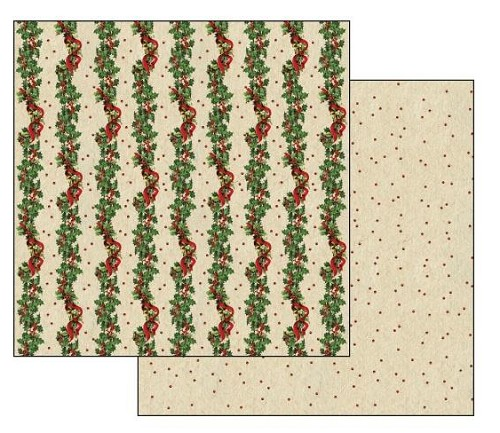 "50445 Stamperia Double-Sided Cardstock 12""X12"" Christmas Garland (SBB228)."