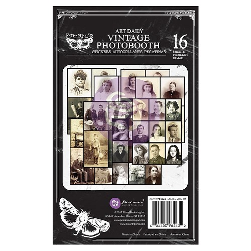 "50471 Prima Art Daily Planner Sticker Pad 4.5""X7.5"" 16/Pkg Vintage Photobooth (964832)."
