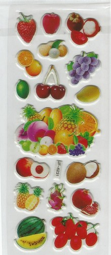 50483 Stickervel Fruit.