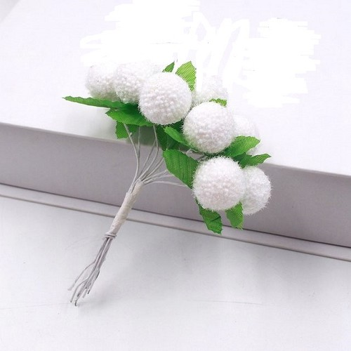 50510 Cherry Berry Snowball Flower White 5 Stuks.