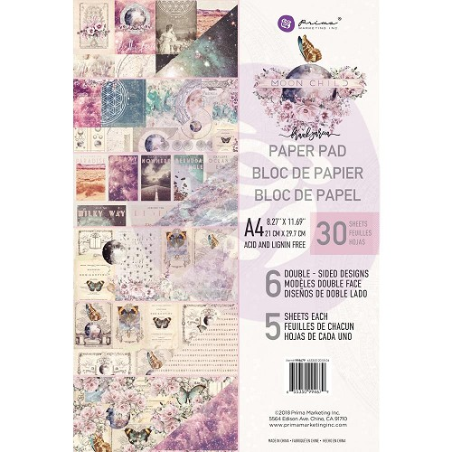 50525 Prima Marketing Double-Sided Paper Pad A4 30/Pkg Moon Child (994679).