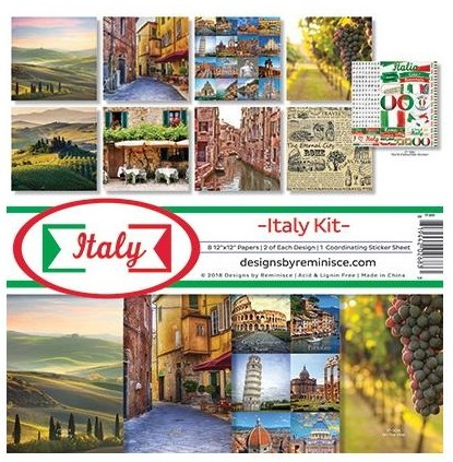 "50571 Reminisce Collection Kit 12""X12"" Italy."