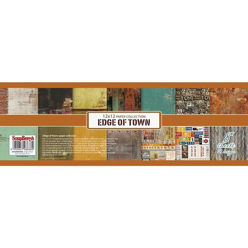 "50575 ScrapBerry`s Edge Of Town Paper Pack 12""X12"" 8/Pkg 6 D-Sided & 2 Single-S."