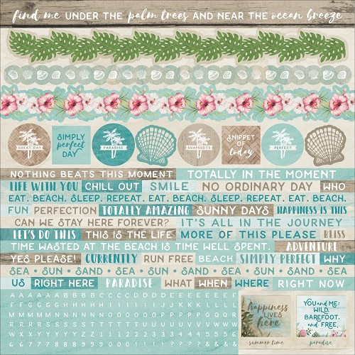 "50583 Kaisercraft Island Escape Cardstock Stickers 12""X12"""