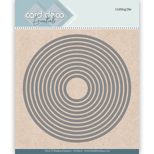 50587 Card Deco Essentials Cutting Dies Round ca 12x12 cm (CDECD0020).