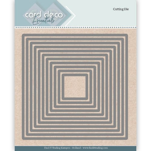 50588 Card Deco Essentials Cutting Dies Square ca 12x12 cm (CDECD0022).