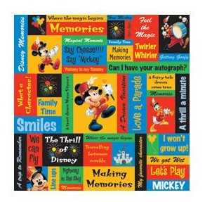 "50661 Disney Mickey Paper 12""X12"" Mickey Phrases."