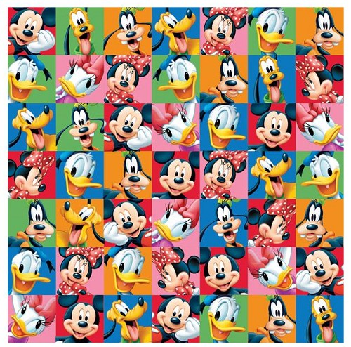 "50662 Disney Mickey Paper 12""X12"" Mickey & Friends Portraits."