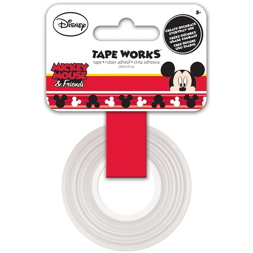"50666 Trends Tape Works Tape .625""X50` Mickey."