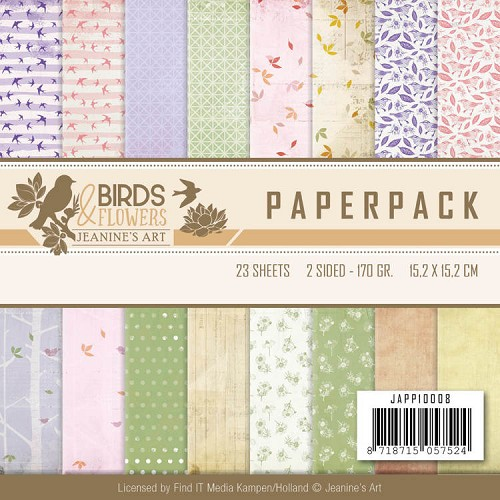 50700 Paperpack - Jeanine`s Art - Birds and Flowers (JAPP10008).