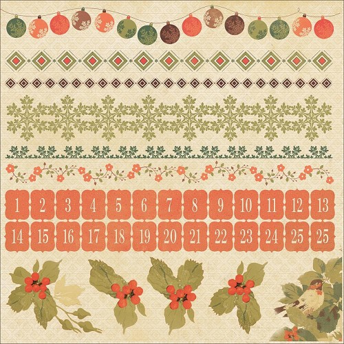 "50718 Kaisercraft Merry & Bright Cardstock Stickers 12""X12""."