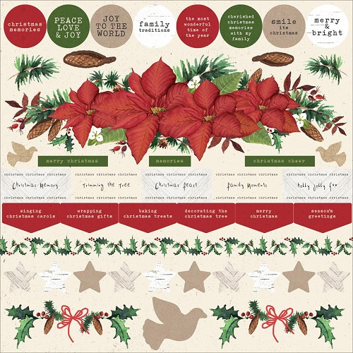"50724 Kaisercraft Home For Christmas Cardstock Stickers 12""X12""."