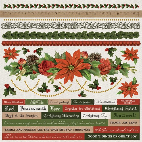 "50725 Kaisercraft Letters To Santa Cardstock Stickers 12""X12""."