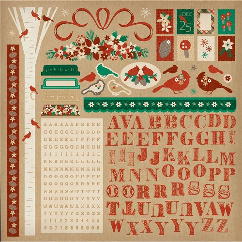 "50727 Kaisercraft Holly Bright Cardstock Stickers 12""X12""."