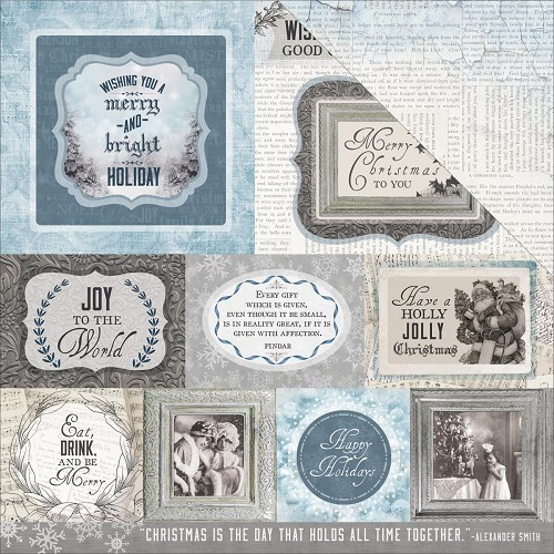 "50728 Kaisercraft Frosted Double-Sided Cardstock 12""X12"" Icy."