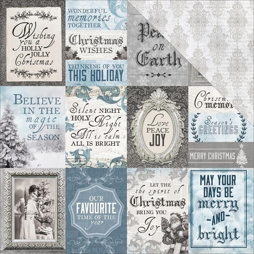 "50732 Kaisercraft Frosted Double-Sided Cardstock 12""X12"" Polar."