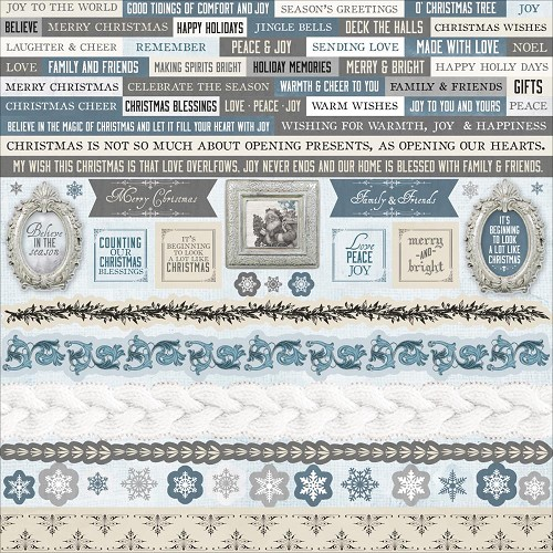 "50733 Kaisercraft Frosted Cardstock Stickers 12""X12."