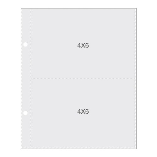 "50763 Sn@p! Pocket Pages For 6""X8"" Binders 10/Pkg 2) 4""X6"" Pockets (SS2003)."