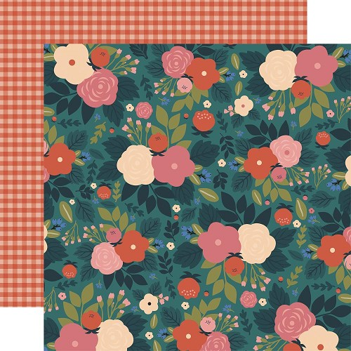 "50779 Echo Park Coffee Double-Sided Cardstock 12""X12""3""X4"" Wake Up And Smell The Flowers."