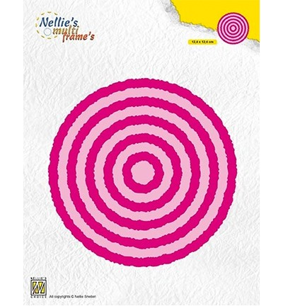 50812 Nellies Choice Multi Frame Photo Frames Circles (MFD123).