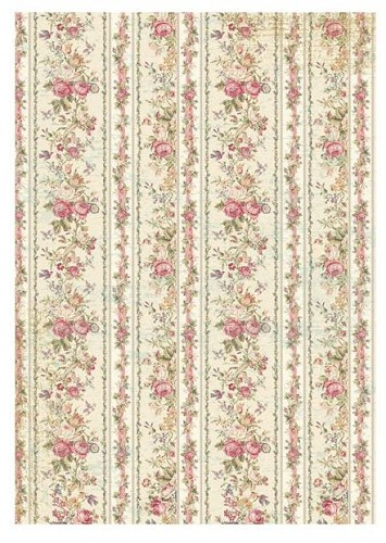 50874 Stamperia Rice Paper Sheet A4 Tiny Roses Wallpaper (DFSA4205).