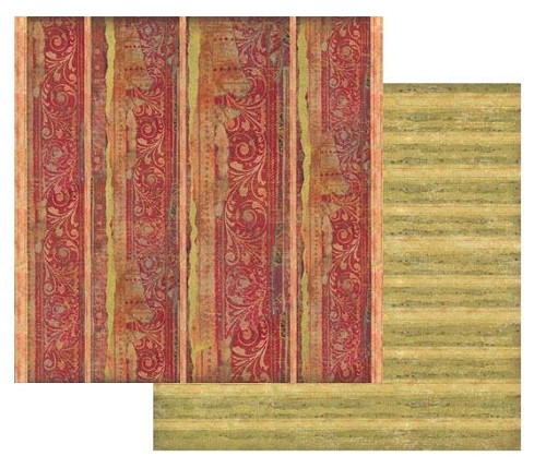"50879 Stamperia Double-Sided Cardstock 12""X12"" Red Texture W/Decoration (SBB420)."