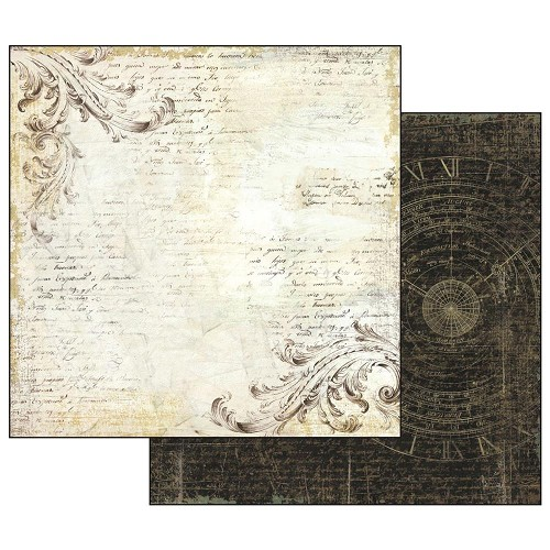 "50881 Stamperia Double-Sided Cardstock 12""X12"" Old Lace (SBB525)."