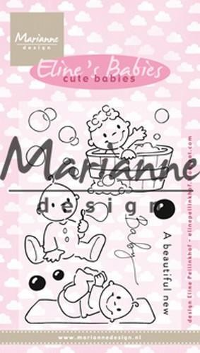 50968 Marianne Design Clear stamp Eline`s Cute Babies (EC0176).