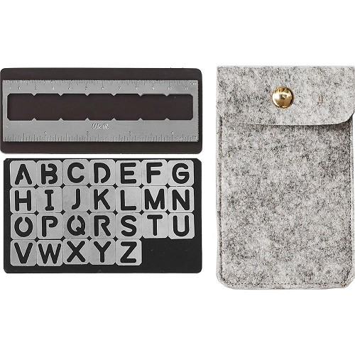 51010 We R Memory Keepers Journal Magnetic Stencils Alphabet (660445).