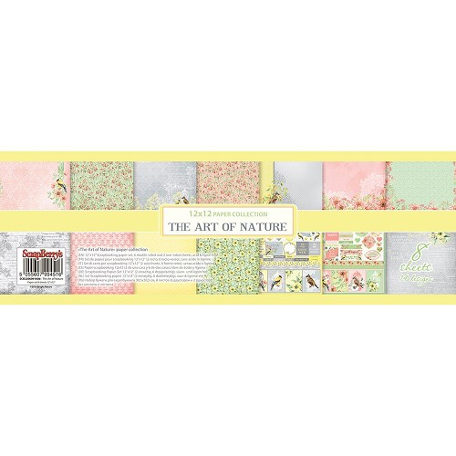 "51023 ScrapBerry`s The Art Of Nature Paper Pack 12""X12"" 8/Pkg."