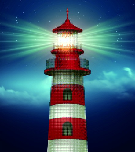 51045  DIAMOND ART Kits 37x42cm Light House (49941).