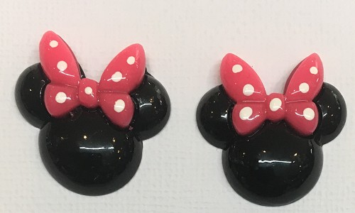 51228 minnie Head Resin 2 Stuks 29x30 mm.