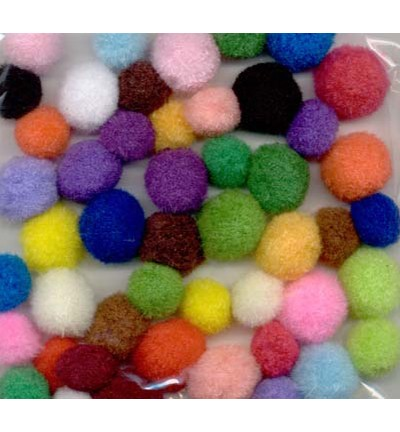 51238 Hobby & Crafting Fun Mega PomPom Set Ass. 48pcs / 1.5 – 2cm (12233-3321).