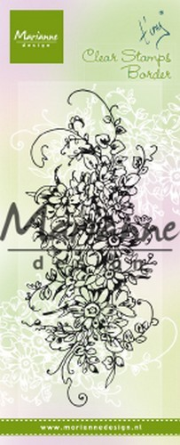 51275 Marianne Design Clear Stamps Tiny`s Border - Boeket (TC0872).