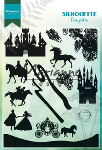 51279 Marianne Design Clear Stamps Silhouette Fairytales (CS1020).