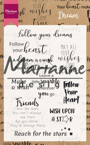51281 Marianne Design Clear Stamps Dream Sentiments UK (CS1018).