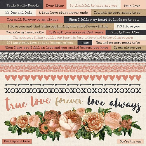 "51327 Kaisercraft Always & Forever Cardstock Stickers 12""X12""."