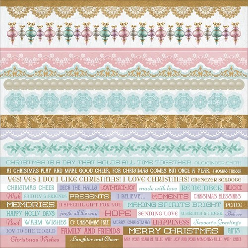 "51328 Kaisercraft Christmas Wishes Cardstock Stickers 12""X12""."