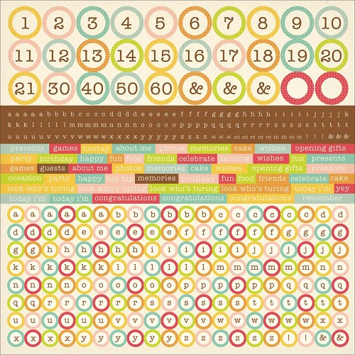 "51329 Kaisercraft Save The Date Cardstock Stickers 12""X12"" Alpha."