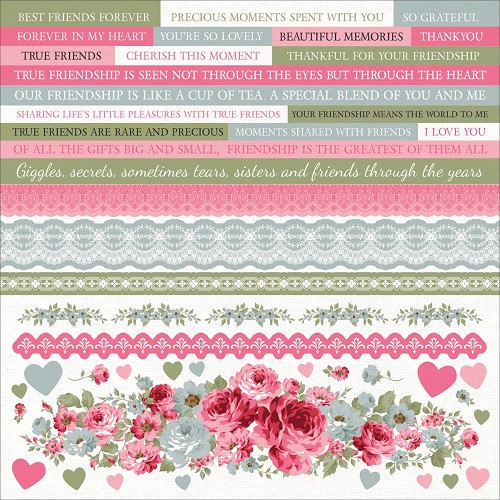 "51332 Kaisercraft High Tea Cardstock Stickers 12""X12."