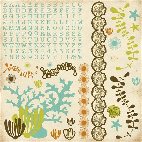 "51337 Kaisercraft Rock Pool Cardstock Stickers 12""X12""."